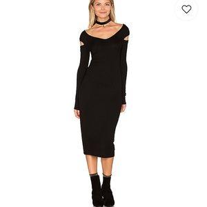 Enza Costa cut out shoulder midi dress